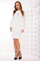 S-L / Вязаное теплое вечернее платье Raisa, молочно-белый