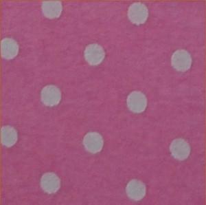 706 Фетр в горох 20х28 см 1мм 1шт. (ніжно рожевий в білий горошок)