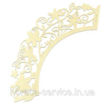 0371 Накладка бумажная декоративная ажурная для маффинов разных цветов (уп 20 шт)