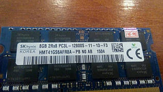 Оперативная память  SAMSUNG DDR3 8GB PC3L-12800S-11-13-f3