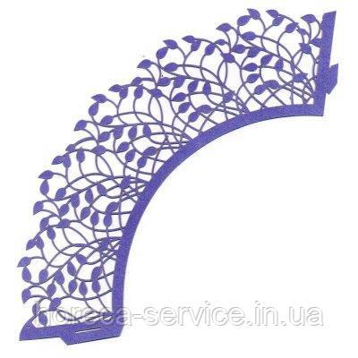 0383 Накладка бумажная декоративная ажурная для маффинов разных цветов (уп 20 шт), фото 2