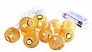 Гирлянда ажурная декоративная Vipolimex Pink Gold длина 1,8 метра теплый золотой Warm Gold, фото 3