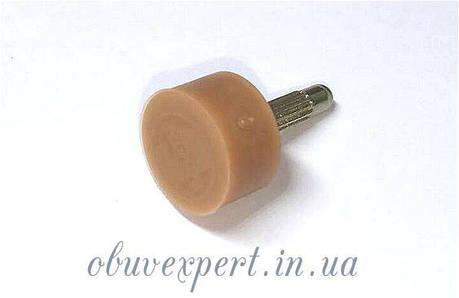 Набойка полиуретановая круглая Supertap штырь 3,1 мм, т. 6,5 мм, d 9 мм, бежевый США, фото 2