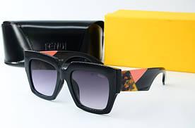 Квадратные женские очки солнцезащитные Fendi 0263 с5