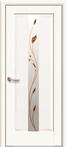 Двері міжкімнатні Новий Стиль, Маестра, модель Прем'єра, Скло сатин з малюнком P1 Білий матовий