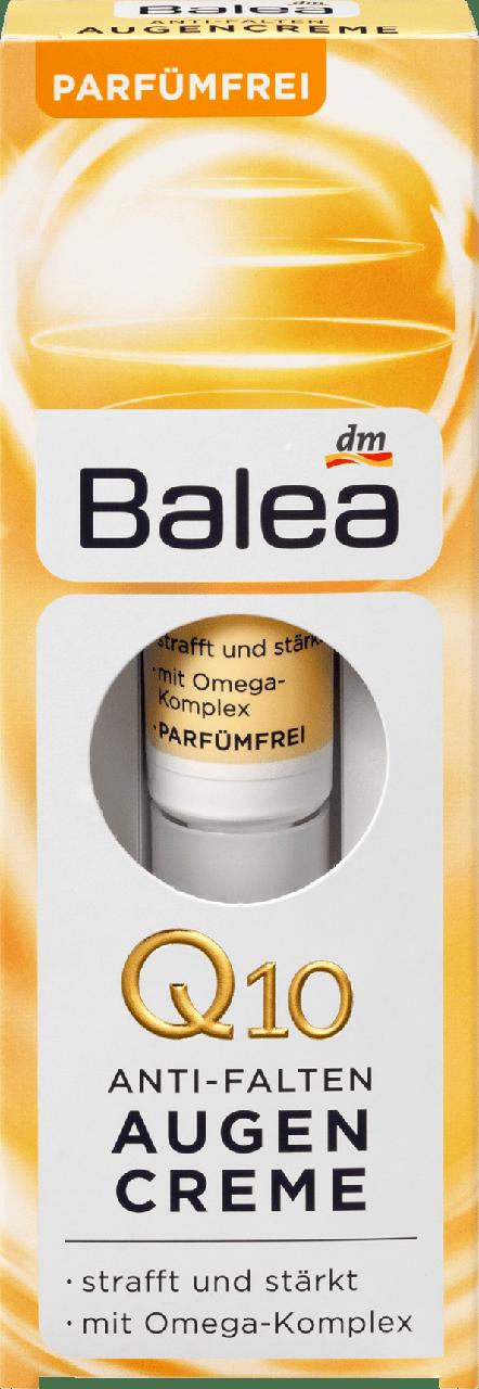 Крем против морщин для контуров глаз Balea Q10 Anti-Falten, 15 ml.