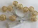 Гирлянда ажурная декоративная Vipolimex Pink Gold длина 1,8 метра теплый золотой Warm Gold, фото 5