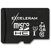 Карта памяти eXceleram 64Gb microSDXC class 10 UHS1 (MSD6410)