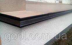 Профиль для открытых балконов и террас под плитку алюминиевый 2 м.п. тип К100