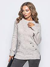 S-L / Вязаный женский свитер Holly, бежевый
