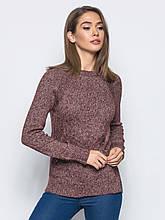 S-L / Вязаный женский свитер Holly, бордовый