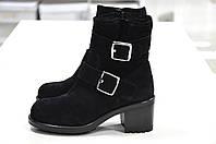 Зимние замшевые черные ботинки Imma -768, фото 1