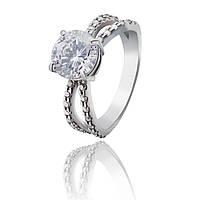 """Серебряное кольцо с крупным фианитом """"Quinn"""" арт-910078б, фото 1"""