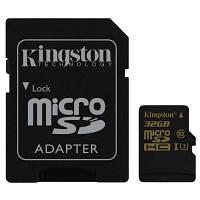 Карта памяти Kingston 32GB microSDHC class 10 UHS-I U3 4K (SDCG/32GB)