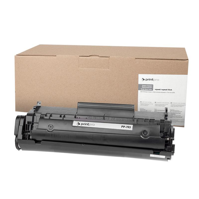 Картридж PrintPro (PP-703) Canon LBP-2900/3000 Black (аналог Q2612A/Canon 703/FX9/FX10)