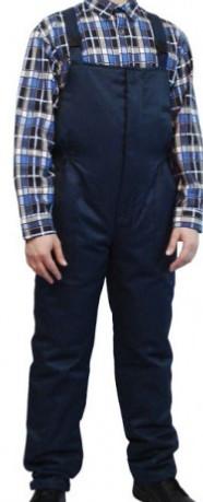 Полукомбинезон утепленный темно-синего цвета, тк.Грета (ЧШК)