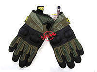 Перчатки Mechanix M-Pact Olive с костяшками, фото 1