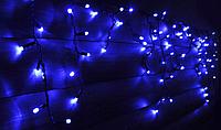 Светодиодная гирлянда бахрома Holiday ICICLE 90LED 2*0,5 синяя (бел./черн. кабель), фото 1