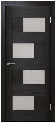 Дверное полотно Домино 2 ПВХ СТЕКЛО САТИН Омис , фото 2