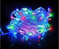 Новогодняя Светодиодная Гирлянда Нить на Елку Внутренняя 100 LED Лампочек Мульти, фото 1