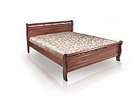 Кровать Флора 1,8х2 м орех, массив ольхи+МДФ