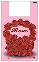 Пакет майка 29*47 Розы