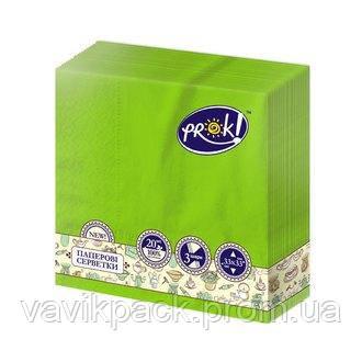 """Салфетки """"PrOK""""  (33 х 33 см)  салатовые"""