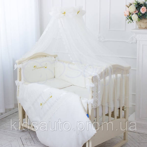 d406b6c4f59c Комплект постельного белья Принцесса молочный - KidsAuto в Харькове