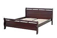 Кровать Флора 1,8х2 м темный орех, массив ольхи+МДФ