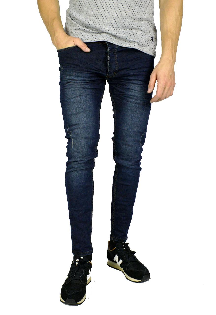 Темно-Синие молодежные джинсы скини DSQUARED ( Турция )
