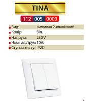TINA выключатель двойной