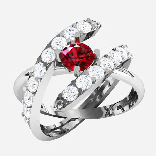 Кольцо  женское серебряное Парадиз KE-1432
