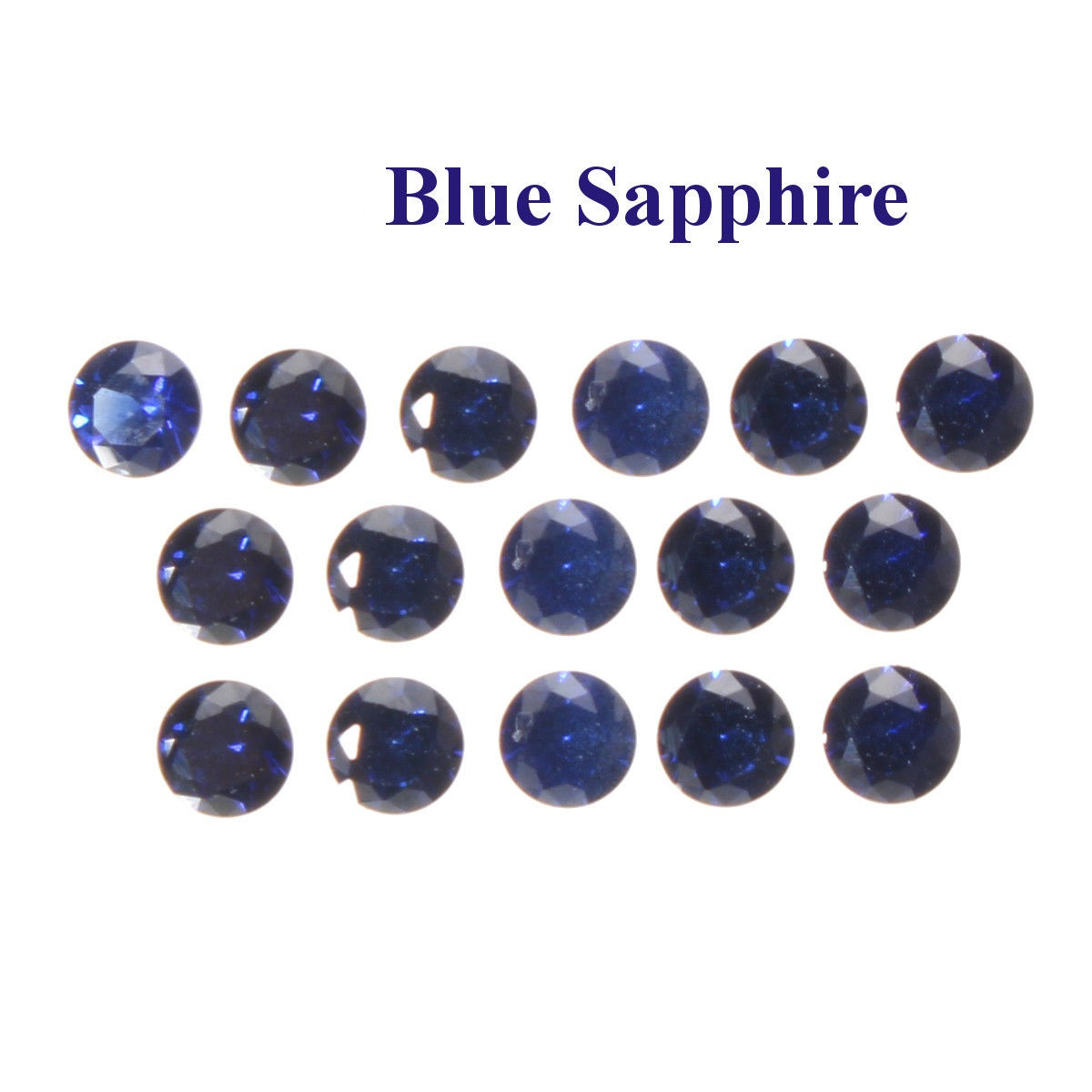 Сапфир синий лабораторный  2.5 мм