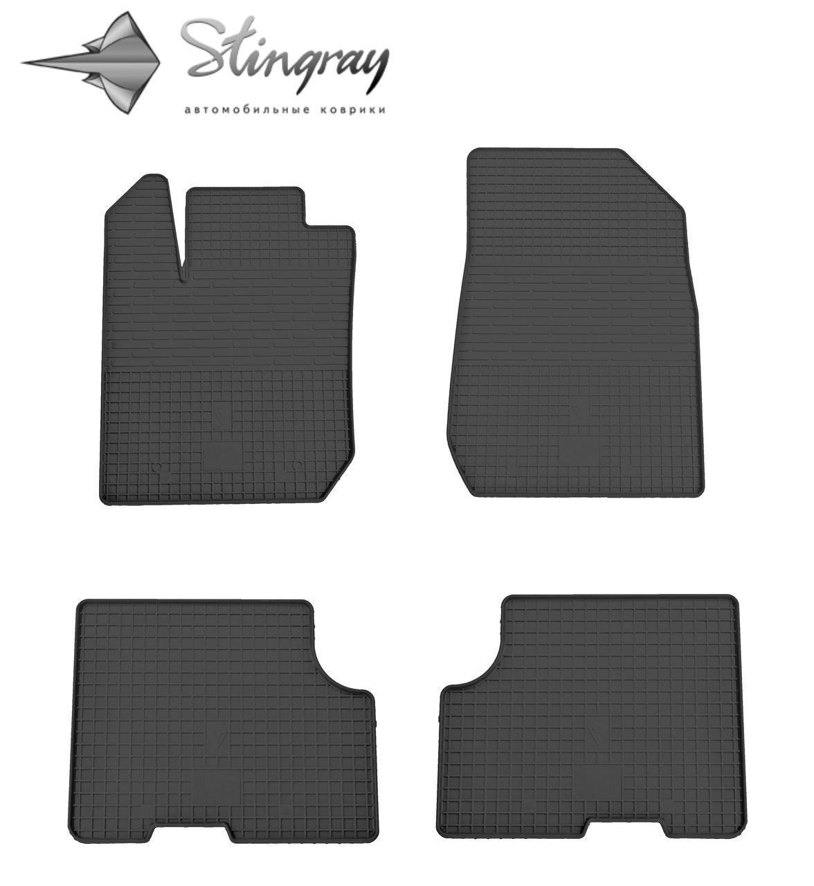 Резиновые коврики (4 шт, Stingray) - Dacia Logan III 2013+ гг.