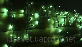 Гирлянда бахрома уличная Holiday ICICLE 90LED 2*0,5 зеленая (бел./черн. кабель)