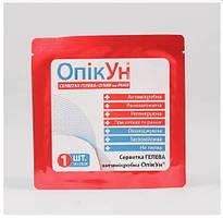 Салфетка гелевая антимикробная «ОпікУн»® (10х10 см) №1