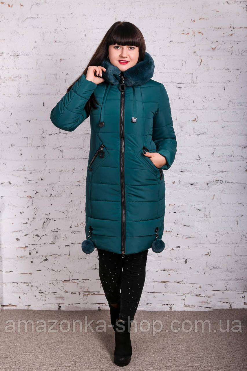 Женское зимнее пальто с экомехом 2019 - (модель кт-377)