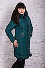 Женское зимнее пальто с экомехом 2019 - (модель кт-377), фото 2