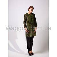 Пальто из пони принт леопард Waggon Paris