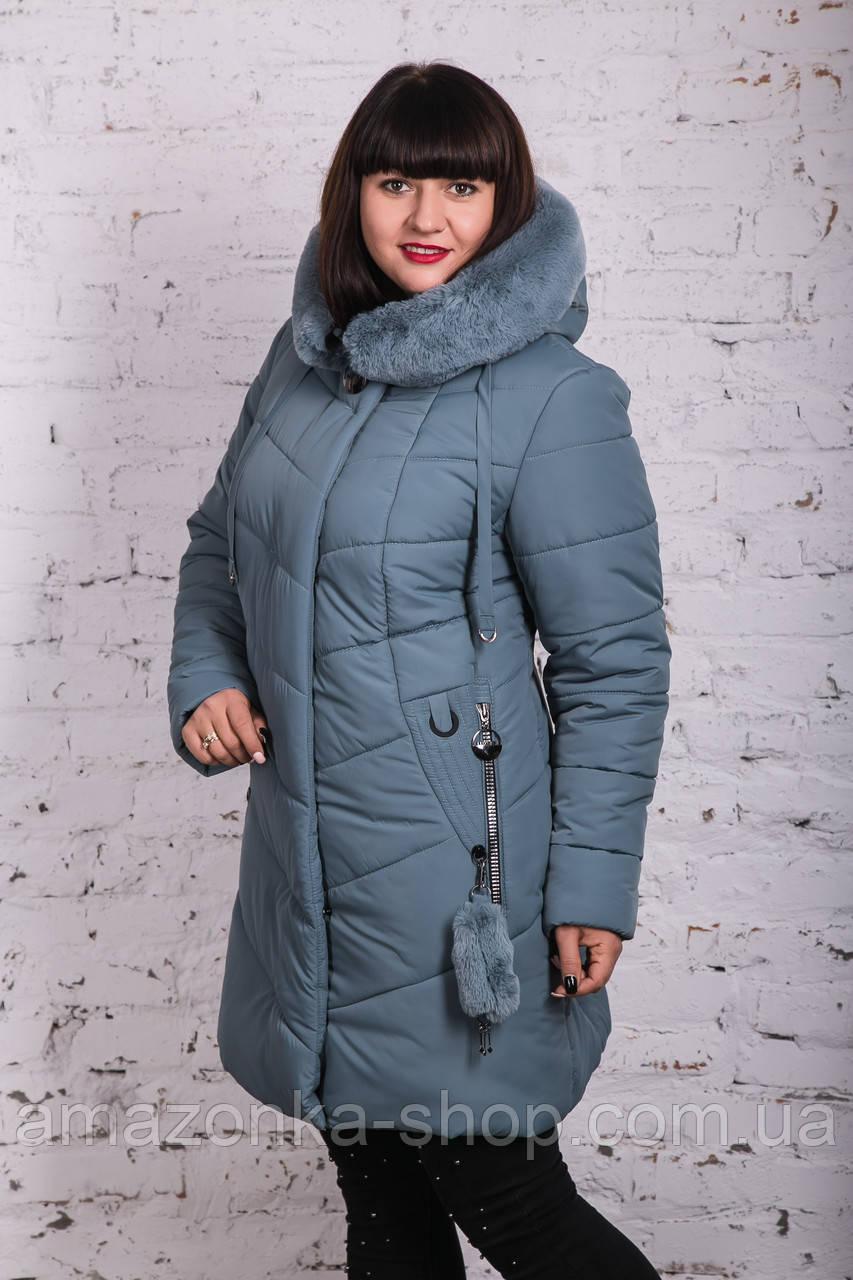 Женское элегантное зимнее пальто баталы 2018-2019 - (модель кт-371)