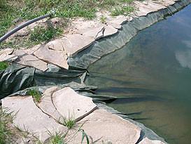 Герметизация дна искусственного водоема 2