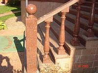 Балясины гранитные Rosso Santiago в Запорожье