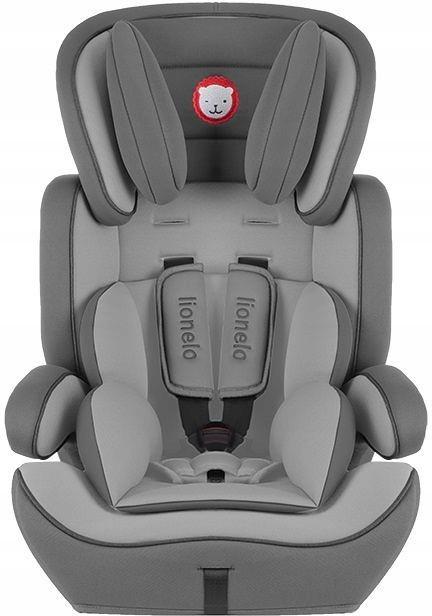 Автокрісло дитяче LIONELO LEVI 9-36 кг сіре (Крісло дитяче для машини)