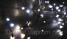 Гирлянда-бахрома уличная Holiday ICICLE 90LED 2*0,5 белая (бел./черн. кабель)