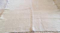 Покривало ліжник шерстяний тканий білий 200*210 см