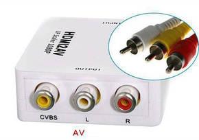 Конвертер видеосигнала HDMI в AV белый, фото 2