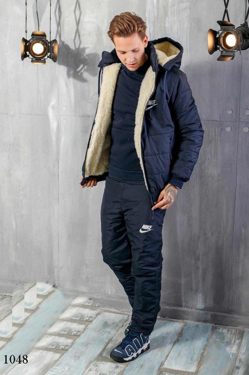 Костюм мужской теплый зимний на синтепоне найк 48,50,52,54