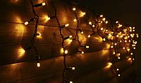 Світлодіодна бахрома вулична Holiday є icicle 90LED 2*0,5 жовта (бел./черн. кабель), фото 1