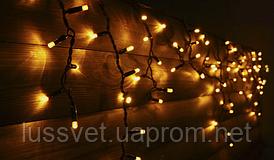 Светодиодная бахрома уличная Holiday ICICLE 90LED 2*0,5 желтая (бел./черн. кабель)