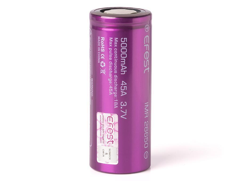 Efest IMR 26650 5000 mAh (45A) - высокотоковый аккумулятор. Оригинал